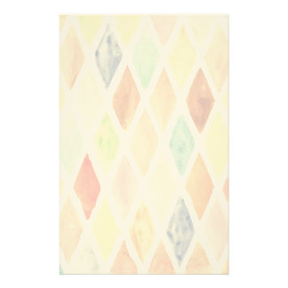 Watercolor background stationery