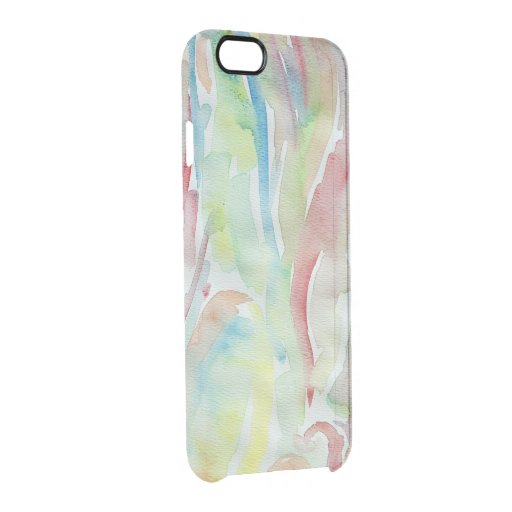 Watercolor Background Clear iPhone 6/6S Case