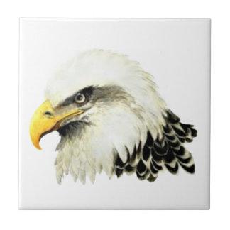 Watercolor Bald Eagle Bird Wildlife Art Tile