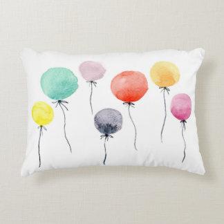 Watercolor Balloons Decorative Pillow