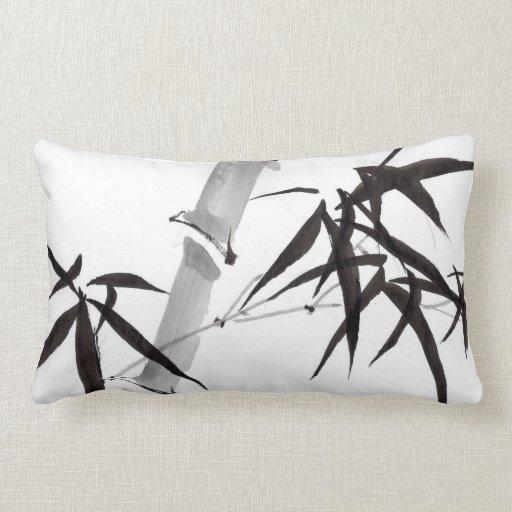 Watercolor bamboo art almohadas