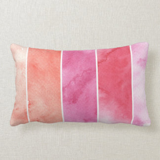 watercolor banners background for your design lumbar pillow