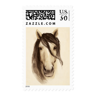 Watercolor Barn Animals | Horse Postage