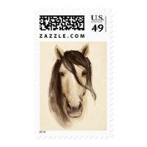 Watercolor Barn Animals | Horse Postage