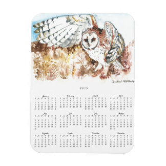 Watercolor barn owl magnet