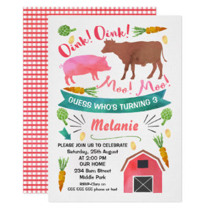 Barnyard Invitations Zazzle