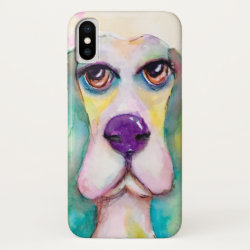 Case-Mate Barely There Apple iPhone XS Case with Basset Hound Phone Cases design