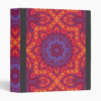 Watercolor Batik Mandala in Bright Sunset Colors Binder