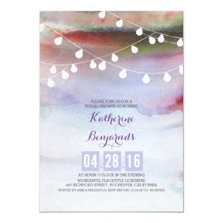 watercolor beach bridal shower invitation