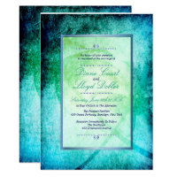 Watercolor Beach, Palm Trees Wedding Invitations