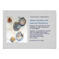 Watercolor Beach Shells Wedding Invitation