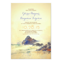 Watercolor Beach Wedding Invitation