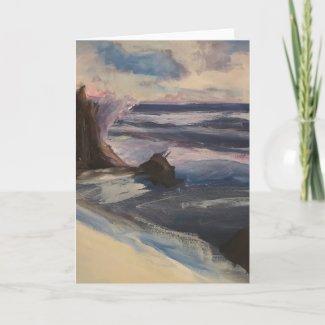 Watercolor Beachscape Card