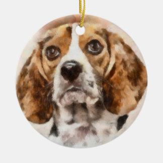 Watercolor Beagle Ornaments