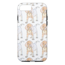 Watercolor Beagle Puppy Dog iPhone 8/7 Case