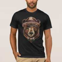 Watercolor Bear Fashion T-Shirt