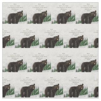 Watercolor Bear Totem Spirit Animal Guide Fabric