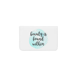 Motivational quotes business card holders cases zazzle watercolor beauty quote business card holder reheart Choice Image