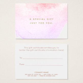 Watercolor Beauty Salon Spa Gift Certificate