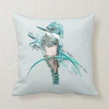 Kingfisher Decorative Throw Pillows Zazzle