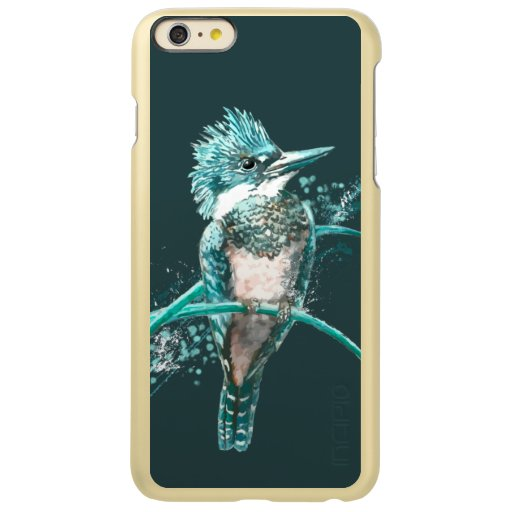 Watercolor  Belted Kingfisher Bird Nature Art Incipio Feather Shine iPhone 6 Plus Case