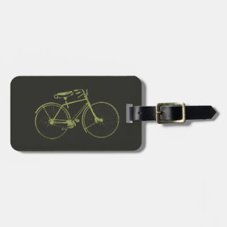 Watercolor Bicycle Luggage Tag