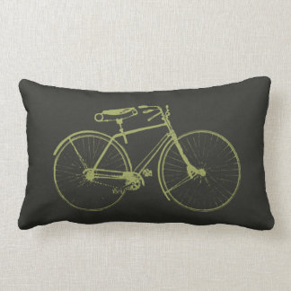 Watercolor Bicycle Lumbar Pillow