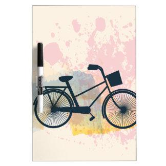 Watercolor Bike Dry-Erase Board