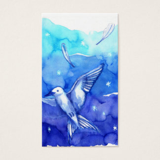 WATERCOLOR bird  Business Card Template