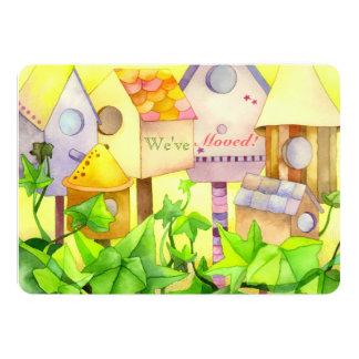 Watercolor Bird House Housewarming Party Invites