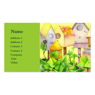 Watercolor Bird House Realtor Business Cards