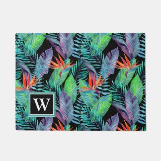 Watercolor Bird Of Paradise | Add Your Initial Doormat