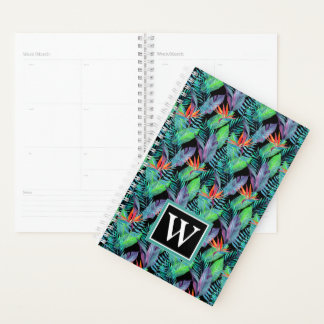 Watercolor Bird Of Paradise | Add Your Initial Planner