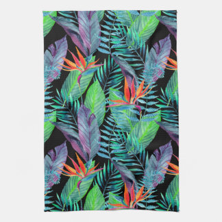 Watercolor Bird Of Paradise Towels