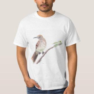 Watercolor bird t-shirt: Brown Thrasher T-Shirt