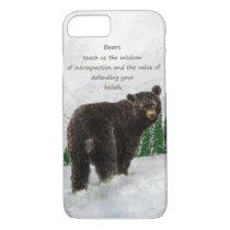 Watercolor Black Bear Animal Totem Spirit Guide iPhone 8/7 Case