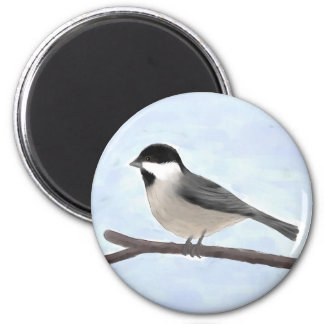 Watercolor Black-capped Chickadee Magnet