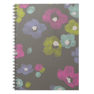 Watercolor Blooms Journal - Charcoal Spiral Notebooks