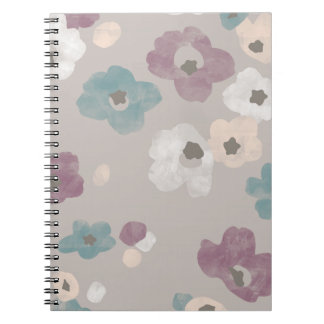 Watercolor Blooms Journal - Taupe Notebook