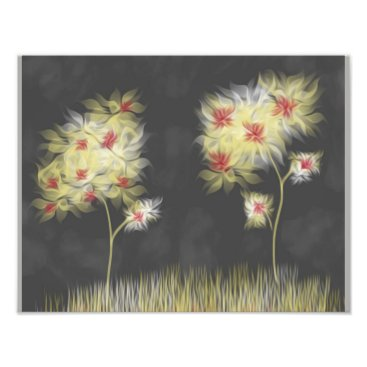 Art Themed Watercolor Blooms Photo Print