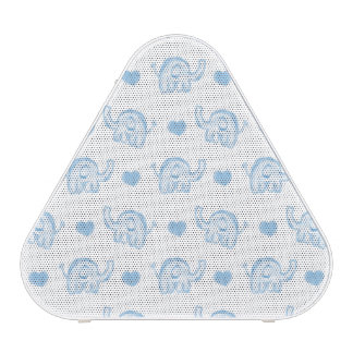 watercolor blue baby elephants and hearts bluetooth speaker