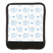 watercolor blue baby elephants and hearts handle wrap