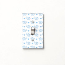 watercolor blue baby elephants and hearts light switch cover