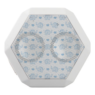 watercolor blue baby elephants and hearts white bluetooth speaker
