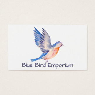 Watercolor Blue Bird Business Cards