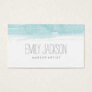 Watercolor Blue Business Card