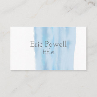 watercolor blue  design business card custom