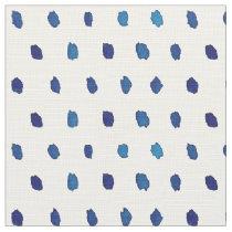 Watercolor Blue Dot Pattern Fabric