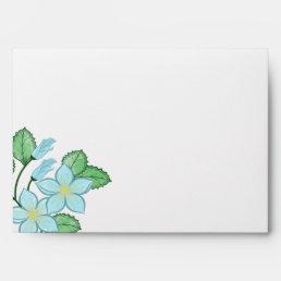 Watercolor Blue Floral Envelope