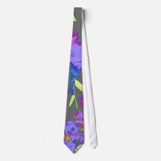Watercolor Blue Floral Tie